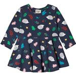 Everyday Dresses - 6-9M Children's Clothing Frugi Sofia Skater Dress - Hedgehogs (DRA018HDG)