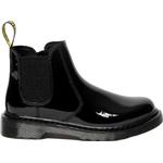 Boots Children's Shoes Dr Martens Junior 2976 Chelsea Boots - Black Patent Lamper