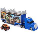 Plasti - Monster Truck Spin Master Monster Jam Official 2 in 1 Transforming Hauler with El Toro Loco Truck 1:64