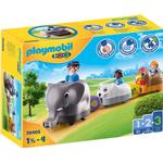 Play Set - Elephant Playmobil 123 My push animal train 70405
