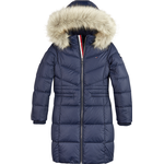 Zipper - Outerwear Children's Clothing Tommy Hilfiger Alana Down Coat - Twilight Navy ( KG0KG05397C87)