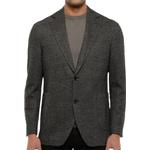 Blazers Men's Clothing Oscar Jacobson Ferry Patch Herringbone Jacket - Gray