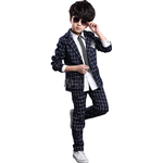Suits Children's Clothing Kid's Ring Bearer Wedding Suits 2 Piece Set - Sliver Gray