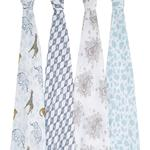 Baby Blankets Aden + Anais Cotton Muslin Swaddle Jungle 120x120 cm 4-pack