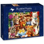 Bluebird Kittens in the Potting Shed 1000 Pieces
