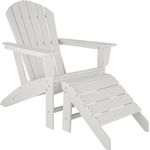 tectake Janis with Footstool Garden Chair