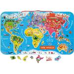 Janod Magnetic World Map 92 Pieces