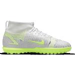 Nike Jr. Mercurial Superfly 8 Academy TF - White/Metallic Silver/Volt/Black