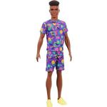 Mattel Barbie Fashionistas Ken Neon Pattern T Shirt