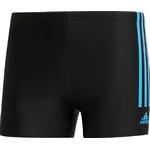 Adidas Semi 3-Stripes Swimming Trunks Men - Black/Shock Cyan