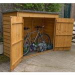 Overlap Wooden Bike Shed