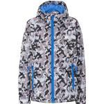 Trespass Kid's Qikpac Waterproof Camo Print Packaway Jacket - Grey Camo