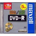 DVD Maxell DVD-R 4.7GB 16x Jewelcase 5-Pack