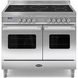Induction Cooker Britannia Delphi 100 Twin Induction Black, Stainless Steel, Red