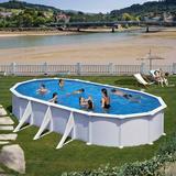 Pool Gre Atlantis Steel Wall Pool 730x375cm