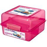Kitchenware Sistema Lunch Cube Coloured 1.4 L