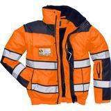Men - Warning Jacket Work Jacket Portwest C466 Hi-Vis Classic Bomber Jacket