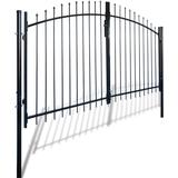 Gate vidaXL Double Door Fence Gate with Spear Top 300x175cm