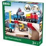Brio rail road Toys BRIO Rail & Road Loading Set 33210