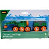 BRIO Clever Crane Wagon 33698