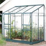 Lean-to Greenhouses Vitavia Vitavia IDA Vægdrivhus 3.3m² Aluminum Glass Aluminum Glass
