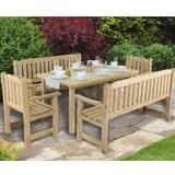 Outdoor Furniture Forest Garden Rosedene Dining Table