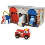 Toys Melissa & Doug Lock & Roll Rescue Truck Garage