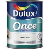 Metal Paint price comparison Dulux Once Satinwood Wood Paint, Metal Paint White 0.75L
