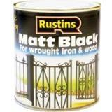 Metal Paint price comparison Rustins Quick Dry Black Matt Wood Paint, Metal Paint Black 0.25L