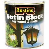 Metal Paint price comparison Rustins Quick Dry Satin Black Wood Paint, Metal Paint Black 1L