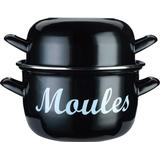 Mussel Pot Mussel Pot price comparison Kitchencraft World of Flavours Mussel pot with lid 24cm