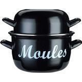 Mussel Pot Mussel Pot price comparison Kitchencraft Mediterranean Standard Mussel Mussel pot with lid 18cm