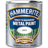 Paint Hammerite Direct to Galvanised Metal Paint White 0.75L