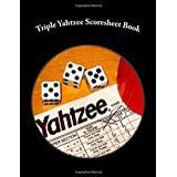 Yahtzee Books Triple Yahtzee Scoresheet Book: 200 Pages (100 sheets)