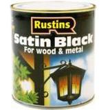 Metal Paint price comparison Rustins Quick Dry Satin Black Wood Paint, Metal Paint Black 0.25L