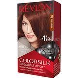 Permanent Hair Colour Revlon ColorSilk Beautiful Color #31 Dark Auburn