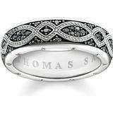 Rings Thomas Sabo Bandring Love Knot Ring - Silver/Black