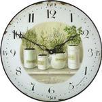 Roger Lascelles Herb Pots 36cm Wall Clock