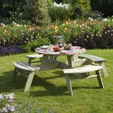 Outdoor Furniture Rowlinson Round Picnic Dining Table