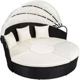 Outdoor Furniture tectake Aluminium rattan sun lounger, sun island