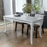 White gloss dining table Furniture vidaXL 243383 Dining Set