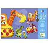 Classic Jigsaw Puzzles Djeco Learning Cars 12 Pieces