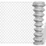 vidaXL Chain Link Fence 25mx125cm