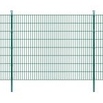 vidaXL 2D Garden Fence Panels & Posts 6mx163cm