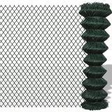 vidaXL Chain Fence 25mx100cm