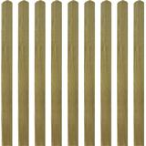 Fence Poles vidaXL Impregnated Fence Slat 9x120cm 10pcs