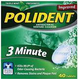 Polident 3-Minute Denture Cleanser Tablets 40-pack