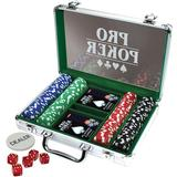 Board Games Tactic Pro Poker Case 200 chips