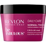 Hair Masks Revlon Be Fabulous Daily Care Normal /Thick Hair Cream Mask 200ml