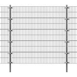 Welded Wire Fence vidaXL Fence Panel with Posts 6mx200cm 142568